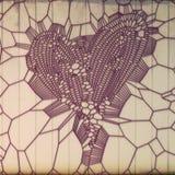 Modèle rose d'abrégé sur coeur sur le fond en bois peint rendu 3d illustration libre de droits