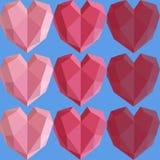 Modèle rose de coeur image libre de droits