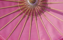 Modèle rose de parapluie de tissu Photographie stock