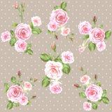 Modèle rose de roses de cru illustration libre de droits