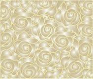 modèle rose floral d'or Photographie stock libre de droits