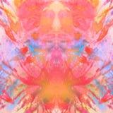 Modèle rose-orange abstrait sur le fond de soulagement Images stock