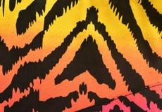 Modèle rose, orange, jaune de zèbre Images libres de droits