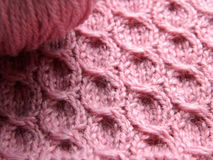 Modèle rose tricoté Photo stock