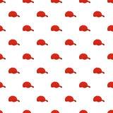 Modèle rouge de casquette de baseball sans couture illustration stock