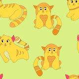 Modèle rouge de chats illustration de vecteur