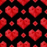 Modèle rouge de coeurs Image libre de droits