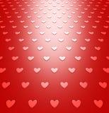 Modèle rouge de fond de coeurs pour le jour de valentines Photographie stock libre de droits