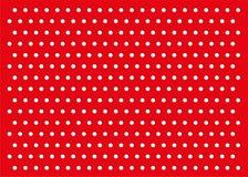 Modèle rouge de fond de points de polka illustration de vecteur
