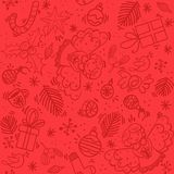 Modèle rouge de Noël avec l'ange images stock