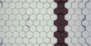 Modèle rouge et gris de claret d'hexagone photos stock