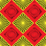 Modèle rouge et jaune de trellis illustration de vecteur