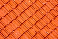 Modèle rouge moderne de tuile de toit diagonalement réglé illustration stock