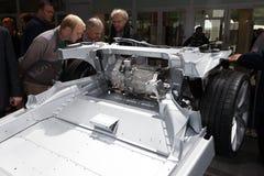 Modèle S Transmission de Tesla à l'IAA 2015 image stock