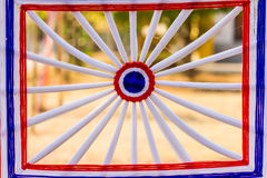 Modèle saint coloré de crochet de fil Photos libres de droits