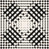 Modèle sans couture à carreaux géométrique de vecteur Effet radial de transition de gradient illustration libre de droits