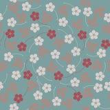 Modèle sans couture à la mode avec des fleurs et des feuilles Image stock