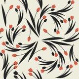 Modèle sans couture élégant avec des tulipes Photo stock