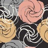 Modèle sans couture élégant avec les roses mignonnes Photos libres de droits
