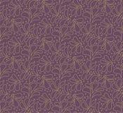 Modèle sans couture élégant floral Fond de feuille de vecteur Texture d'ornement de tissu illustration libre de droits