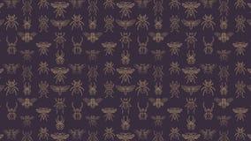 Modèle sans couture abstrait avec des insectes illustration stock