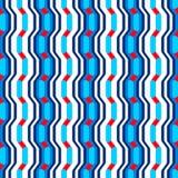 Modèle sans couture abstrait avec des vagues et des courbes des formes géométriques illustration stock