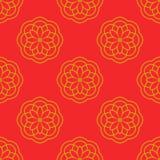 Modèle sans couture abstrait avec l'ornement floral Fond de mandala illustration stock