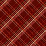 Modèle sans couture abstrait avec le tissu de plaid sur un fond de brun foncé Photo libre de droits