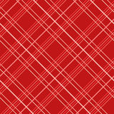Modèle sans couture abstrait avec le tissu de plaid sur un fond rouge Photos stock