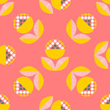Modèle sans couture abstrait avec les éléments floraux Image libre de droits