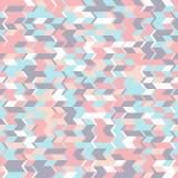 Modèle sans couture abstrait avec les formes géométriques Mouvement horizontal des formes triangulaires Images stock
