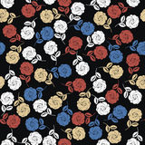 Modèle sans couture abstrait avec les roses élégantes Image stock