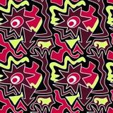 Modèle sans couture abstrait coloré dans l'illustration de vecteur de qualité de style de graffiti pour votre conception illustration stock