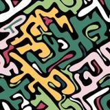 Modèle sans couture abstrait coloré dans le style de graffiti illustration de vecteur de qualité pour votre conception illustration de vecteur