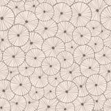 Modèle sans couture abstrait décoratif de cercle Images libres de droits