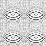 Modèle sans couture abstrait d'ornement l'effet de kaléidoscope Motif ethnique de damassé Image libre de droits