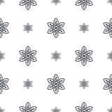 Modèle sans couture abstrait dans des couleurs noires et blanches Illustration de vecteur Fond pour la robe, fabrication, papiers Image stock