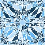 Modèle sans couture abstrait dans des tons bleus Images stock