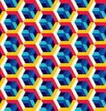 Modèle sans couture abstrait dans le style isométrique Trellis des formes géométriques Photo libre de droits