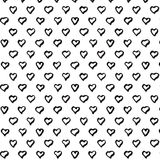 Modèle sans couture abstrait de coeur Modèle de coeur d'aspiration de main Illustration d'encre Photographie stock libre de droits
