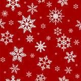 Modèle sans couture abstrait de nouvelle année avec des flocons de neige Photographie stock