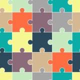 Modèle sans couture abstrait de puzzle pour des filles, garçons Modèle créatif de vecteur avec le puzzle, place, éclaboussure, po illustration libre de droits