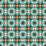 Modèle sans couture abstrait de tuile de fleur Photos libres de droits