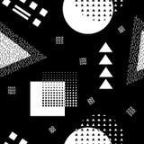 Modèle sans couture abstrait de vecteur avec des formes géométriques Rétro style de Memphis Image libre de droits