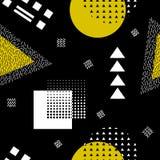 Modèle sans couture abstrait de vecteur avec des formes géométriques Rétro style de Memphis Photos libres de droits