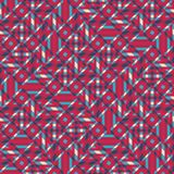 Modèle sans couture abstrait de vecteur d'intersecter l'orname diagonal Image libre de droits