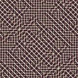 Modèle sans couture abstrait de vecteur d'intersecter l'orname diagonal Photographie stock