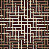 Modèle sans couture abstrait de vecteur d'intersecter l'ornement carré Images stock