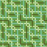 Modèle sans couture abstrait de vecteur d'intersecter l'ornement carré Photographie stock