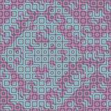 Modèle sans couture abstrait de vecteur d'intersecter les ornements carrés Image stock